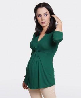 Blusa para embarazada - ANUDADA VERDE PINO