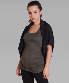 Cardigan para embarazada - Cropped negro