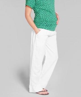 Pantalón para embarazada - Lino blanco