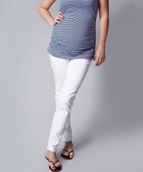 Pantalón para embarazada - Skinny stretch blanco