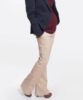 Pantalón para embarazada - Bota abierta camel