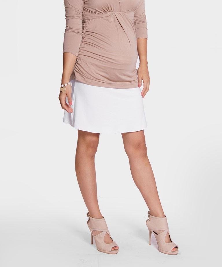 6e5ae11fb Falda para embarazada - Volada blanca - Mamma Bella - Ecuador