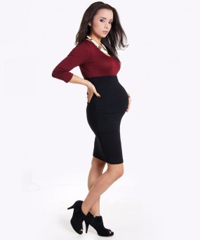 Falda para embarazada - Multitax negra