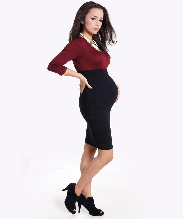 selección premium 3ceda 49ed8 Falda para embarazada - Multitax negra - Mamma Bella - Ecuador