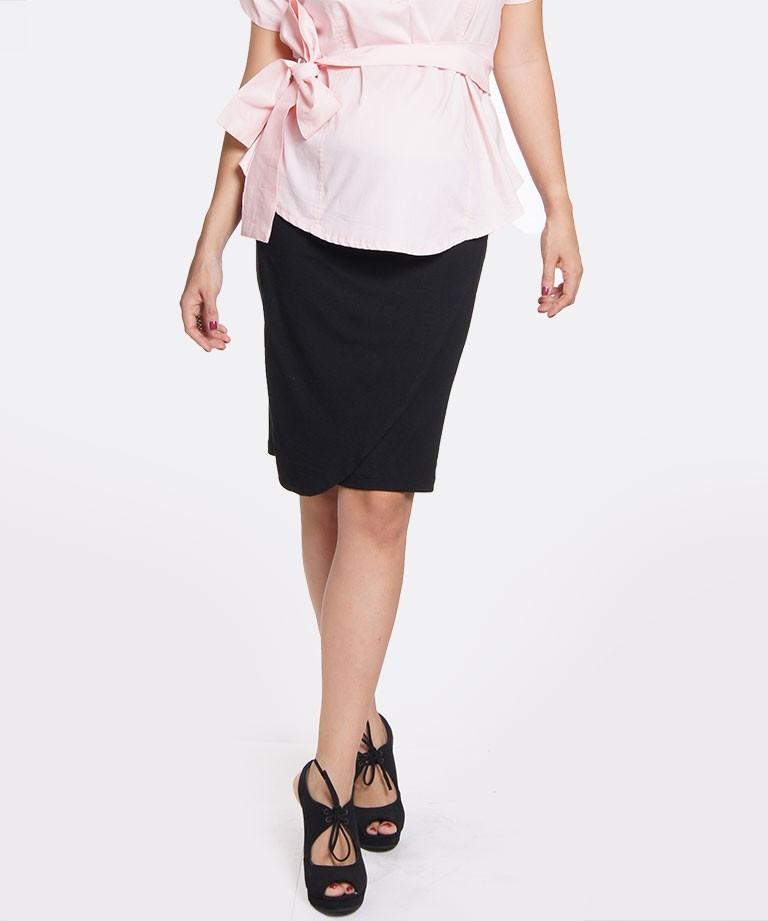 diseño de calidad 0c539 bd1f2 Falda para embarazada - Wrap negra - Mamma Bella - Ecuador