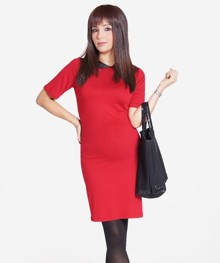 cb6e87616 Vestido de embarazo - Preppy rojo - Mamma Bella - Ecuador