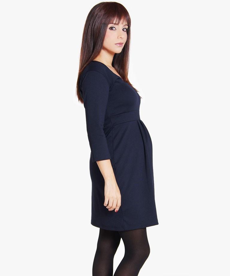 5bde3cd4d Vestido de embarazo - Isabel navy - Mamma Bella - Ecuador