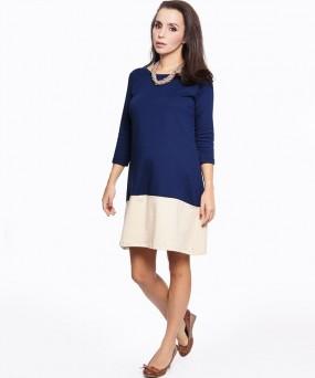 Vestido para embarazada - Trapecio block
