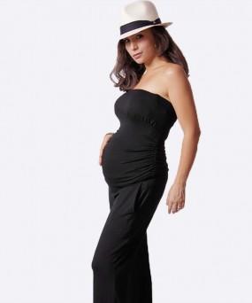 Enterizo para embarazada - Strapless negro