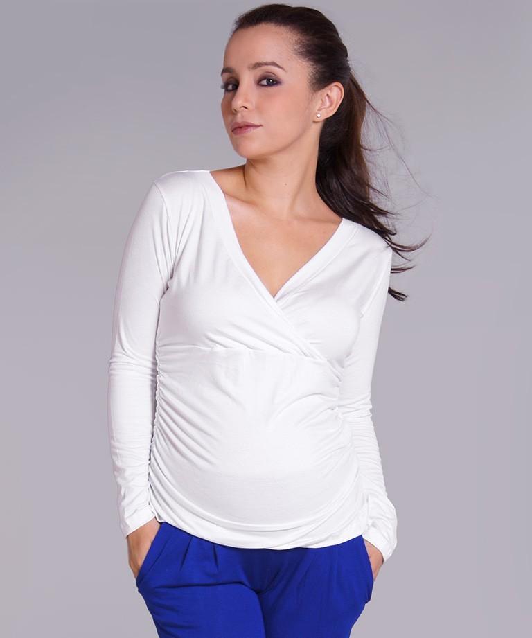 Blusa para embarazada - KIMONO MANGA LARGA BLANCO