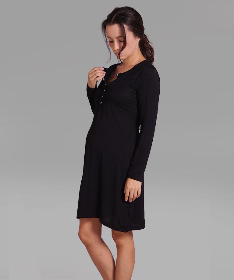 Pijama para embarazada - Batola negra