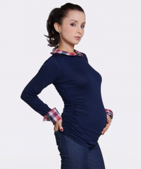 Blusa materna - TOP PREPPY NAVY