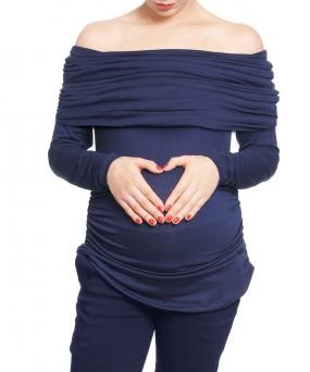 Blusa de embarazo - TOP MARIAN NAVY