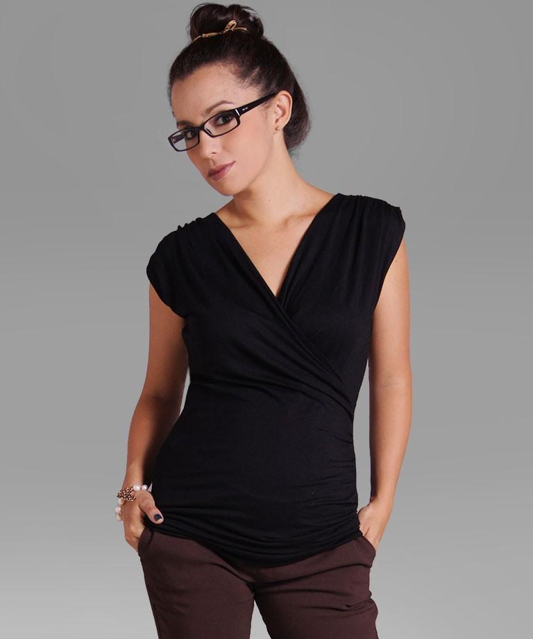 4a05bfe43 Blusa para embarazada - CRUZADO SISA NEGRO - Mamma Bella - Ecuador