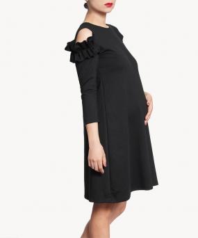 Vestido materno - RUFFLES NEGRO