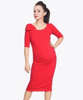 Vestido materno - AJUSTADO ROJO