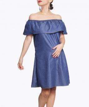 Vestido materno - BARDOT DENIM