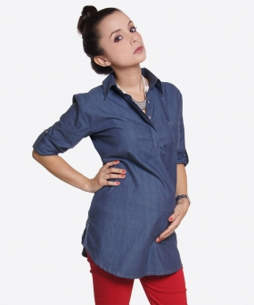 Camisa de embarazo - EASY CHIC CHAMBRAY
