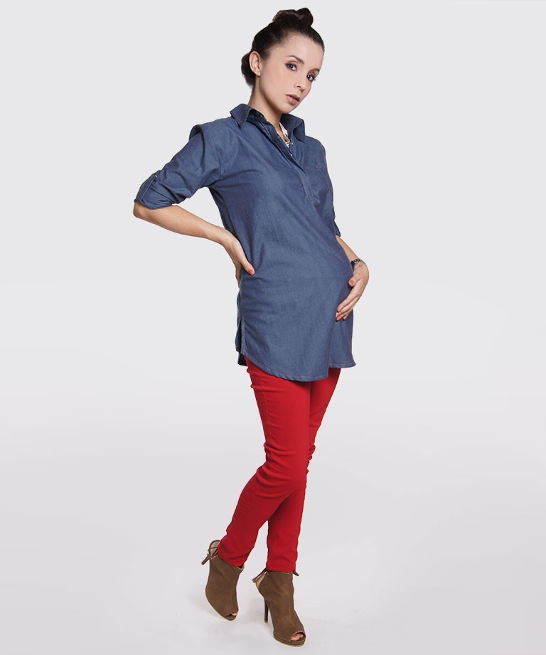 b7d49183f Camisa de embarazo - EASY CHIC CHAMBRAY - Mamma Bella - Ecuador