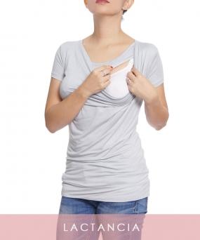 Blusa de lactancia Hellen gris