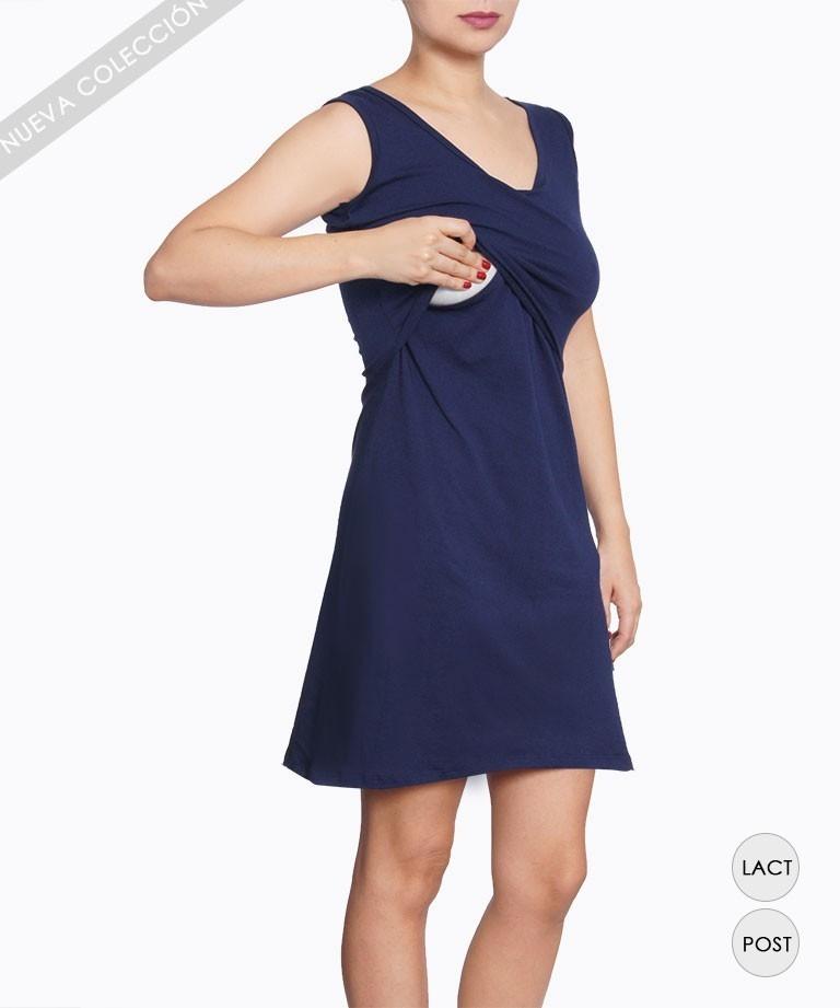0e1389550 Vestido de lactancia - SISA AZUL - Mamma Bella - Ecuador