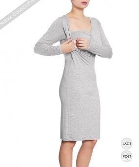 Vestido de lactancia - KAREN GRIS