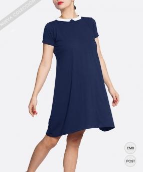 Vestido materno trapecio Navy