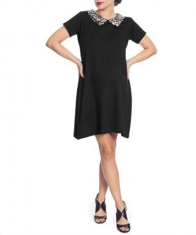 Vestido materno trapecio negro Shine