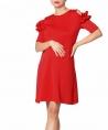Vestido materno Ruffle rojo
