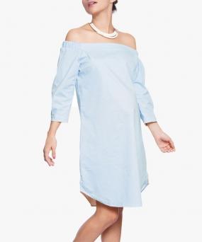 Vestido materno strapless Sky