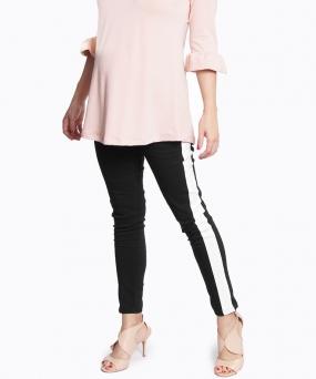Pantalon materno Skinny Duo Negro y Blanco