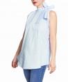 Blusa materna con tira azul claro